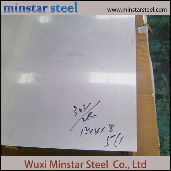 AISI 304 304L 2B Finish Stainless Steel Sheet 0.8mm 1.0mm 1.2mm Thick