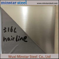 1.0mm 1.2mm 1.5mm Thick Cold Rolled 316 316L Stainless Steel Sheet Hairiline Surface